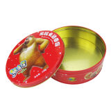 Big Round Shape Tin Box for Chocolate Canton Tin Contanier