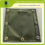 Plastic Covered PVC Mesh Camping Canvas Tarpaulin for Covering
