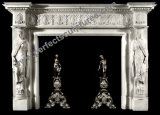 Marble Fireplace Mantel for Home Decoration (QY-LS378)