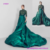 High Collar Half Sleeves Ball Gown Prom Dress