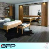 Mirror Sliding Wardrobe Mixed with Wood Grain Furniture