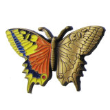 Factory Direct Price Customized Eco-Friendly Butterfly Colorful Soft Enamel 3D Gold Zinc Alloy Pin Badge (072)