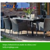 Th1202 Rattan Garden Dining Set Black Armrest Chair