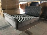 Queen King Double Size PU Velvet Material Leather Bed Home Bedroom Bed