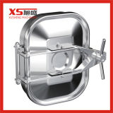Stainless Steel Sanitary Rectangular Tank Manhole Cover with One Intersectant Arms