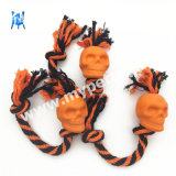 Knotted Cotton Rope Pet Toy Rubber Dog Toy Halloween Dog Present Golgo Shape Toy Halloween Toy Pet Products