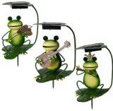 Frog Decoration Lamp Solar Garden Plug-in Lamp Art Iron Lamp