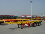 Lowest Price Tri Axles Skeleton Container Semi Trailer