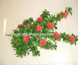 Artificial Red Flower Big Bundle for Hedge (MW16023)