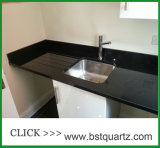 Ultimate Black Artificial Quartz Stone Worktop