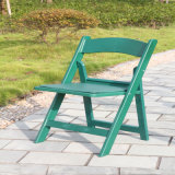 Green Wedding Resin Folding Chair with Pad