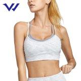 Women Shoulder Strap Cross Yoga Bra Push up Running Training Shockproof Gather Double Layer Cheap Workout Crop Tops