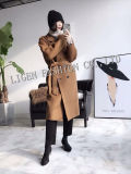 Autumn and Winter Hand-Made Double-Sided Woolen Ladies Wool Coat