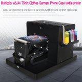 Multicolor A3/A4 Flatbed Printer DTG Printer T-Shirt Printer Printing Dark Light Color Flatbed Printer for Tshirt Clothes Garment Phone Case Textile Printer