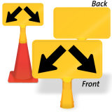 ABS Plastic Yellow Traffic Safety Cone Topper Sign
