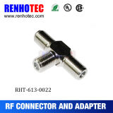 Three F Female Connector Adapter