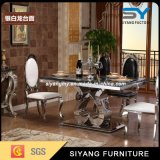 Wholesale Black Marble Dining Table with 6 Chair