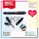 Imee Custsom Logo Printing Promotional Promotion Vis 1GB-256GB Metal Plastic USB 2.0 3.0 U Flash Memory Pen Stick