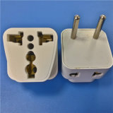 Two Round Pins Plug to Multi Fuction Adaptor (RJ-0063-1)