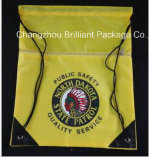 420d Polyester Promotion Drawstrings Bag with Zipper