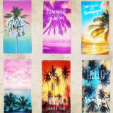Bath Pareo Palm Tree Printed Holiday Quick Drying Suede Beach Towel