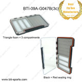 Wholesale Large Size Anti-Friction Super Slim 100% Waterproof Triangle Foam + 3 Compartments Fly Fishing Box 09A-G047