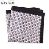 Luxury Silk Polyester Dots Printed Pocket Square Hanky Handkerchief (SH-051A)