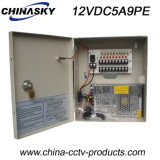 12V 5A 9 Channel Centralized Power Supply Box with Lock (12VDC5A9PE)