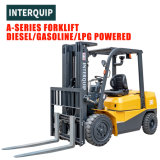 China Forklift Interquip Brand 2 to 10 Tons Counterbalance Diesel Forklift Truck with China and Japan Engine