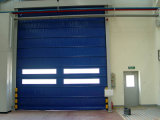 Cheap Automatic Folding Garage Doors with Pedestrian Roll up Door