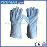 Unlined Grey Cow Leather Welder Labor Gloves