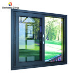 Aluminum Customized Colors Sliding Windows of Small and Huge Design with Tinted Glass