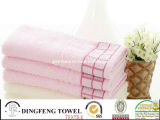 100% Cotton Yarn Dyed Towel with Satinborder