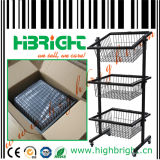 3 Tier Wire Display Basket Display Stand Shelf