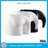 Black and White Lover Ceramic Elephant Tea Cup