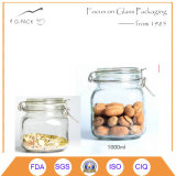 Glass Biscuit Container with Silicone Airtight Seal Cap