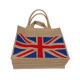 Custom Print Design Jute Shopping Bag Double Handles