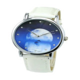 Hl-AG038 Alloy Case Leather Strap Gift Watch