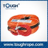 Orange Red Color Synthetic Winch Rope Abrasion Guard Synthetic Winch Rope Accessories