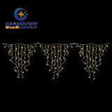 L3mxh1.5m Warm White Color Pointed Shape Icicle Curtain Light