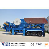 High Capacity and Low Price Trailer Stone Mobile Crusher