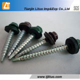 Colored or Silver White Hexgonal Head Self Drilling Roofing Screws