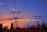 Megatro 1000kv Horizontal Configuration Zbs3 Tangent Overhead Line Transmission Tower