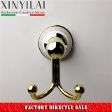 Luxury Gold Plating Ceramic Bathroom Double Robe Hook
