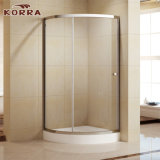 Chrome Aluminum Profiles Shower Room with Tempered Glass (K-336)
