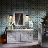 Wholesale American Style Solid Wood Bathroom Cabinet Vanity