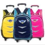 Waterproof Wheels School Bag Trolley Backpack for Students