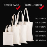 Stock Reusable Eco Grocery Carry Bag, Recycle Cotton Shopping Bags, Cheap School Shoulder Book Bag, Promotional White Cotton Canvas Tote Bag
