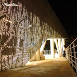 Best Selling Punching Aluminum Facade Panel with LED Lights