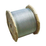 China Factory Manufacture 1*7 0.33*7 White Dry Steel Wire Rope with Big Plywooden Reel